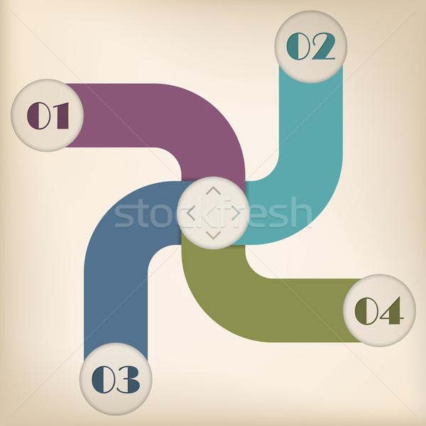 Inforgraphic design with options and gradation Stock photo © vipervxw