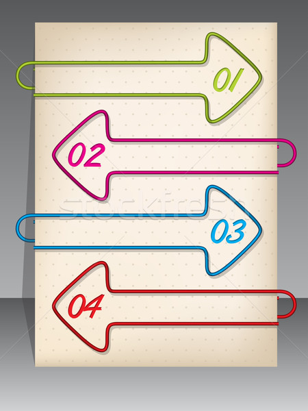 Arrow shaped binding clip infographic design Stock photo © vipervxw