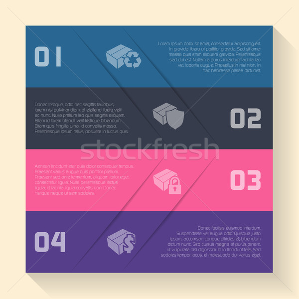 Infografica design finestra icone opzioni carta Foto d'archivio © vipervxw
