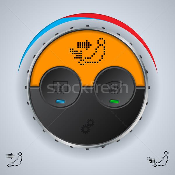 Lucht voorwaarde lcd display oranje Stockfoto © vipervxw