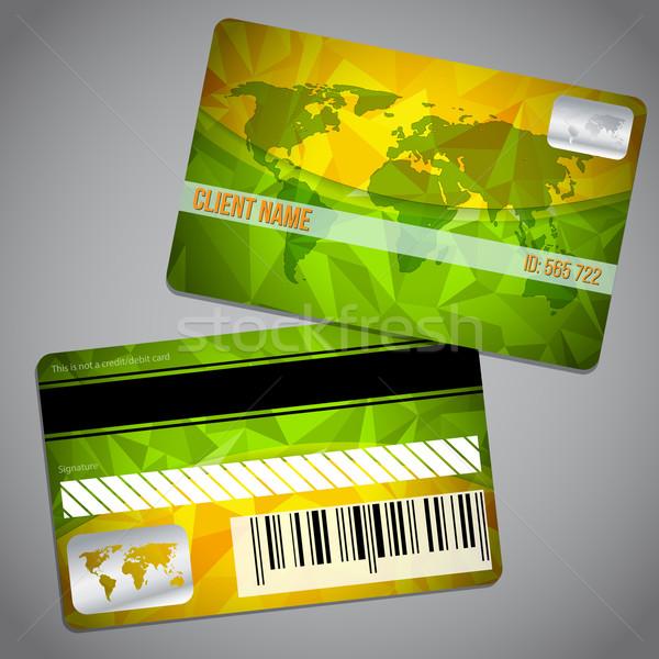忠誠心 カード 地図 緑 オレンジ ストックフォト © vipervxw