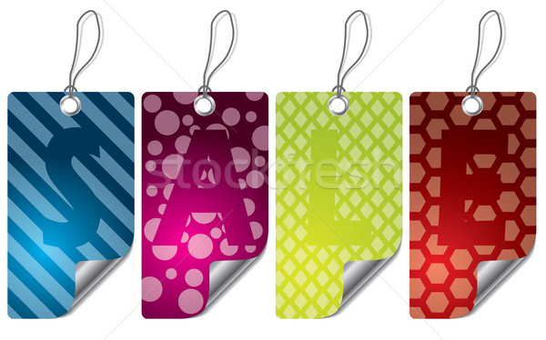 Różny projektu kolor etykiety zestaw Zdjęcia stock © vipervxw