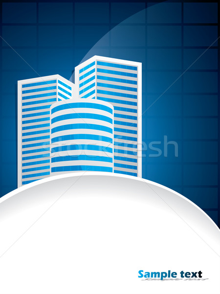 Business brochure with building Stock photo © vipervxw