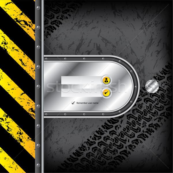 Industriële inloggen interface band donkere grunge Stockfoto © vipervxw