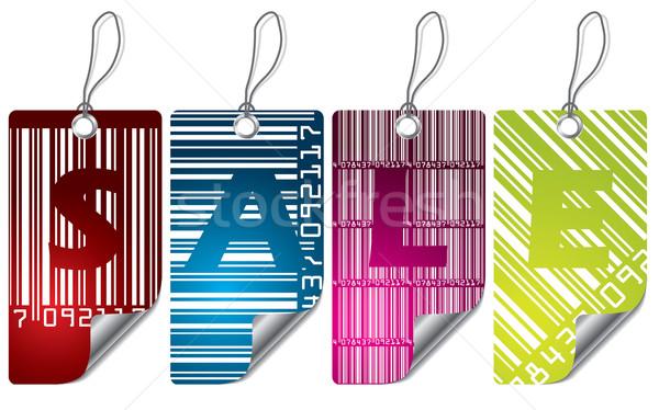 Stock photo: Cool barcode label design set