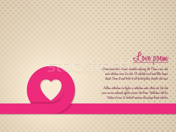 Valentine's day greeting card with heart patterned background Stock photo © vipervxw