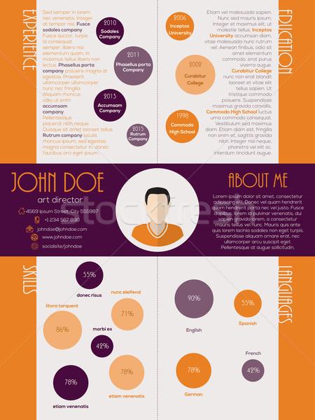 Dot design curriculum vitae resume Stock photo © vipervxw