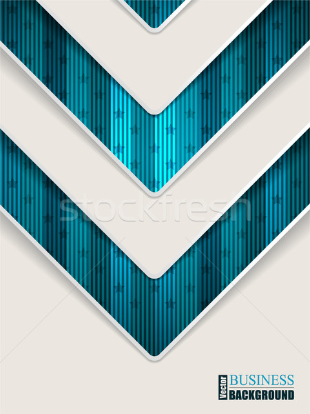 抽象的な ターコイズ パンフレット 矢印 デザイン ストックフォト © vipervxw