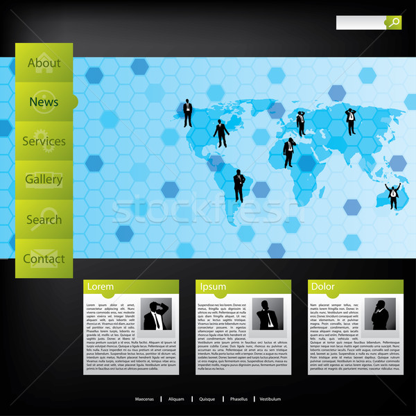 Business concept web template Stock photo © vipervxw