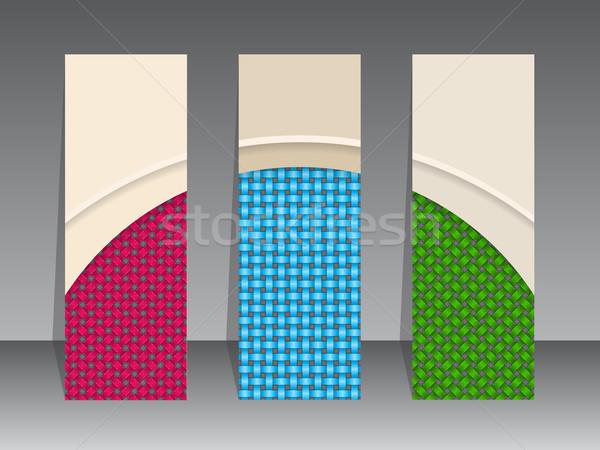Label set seamless patterns Stock photo © vipervxw