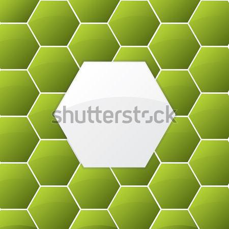 Stockfoto: Cool · groene · ontwerp · zeshoek · internet