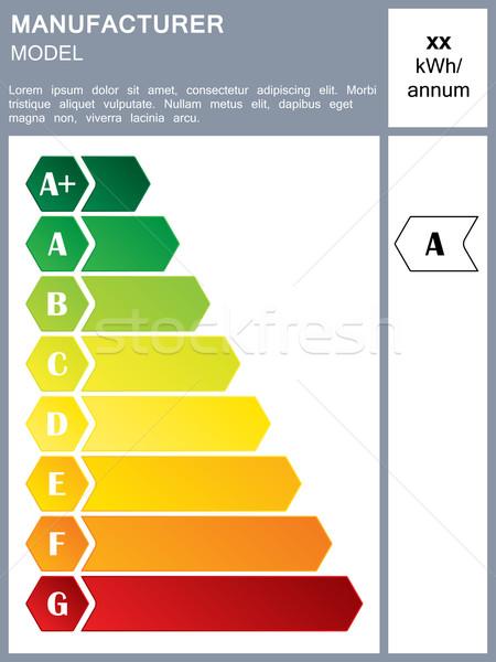 Energiahatékonyság címke minta szöveg otthon zöld Stock fotó © vipervxw
