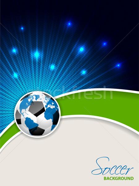 Foto stock: Abstrato · futebol · folheto · mapa · bola · modelo