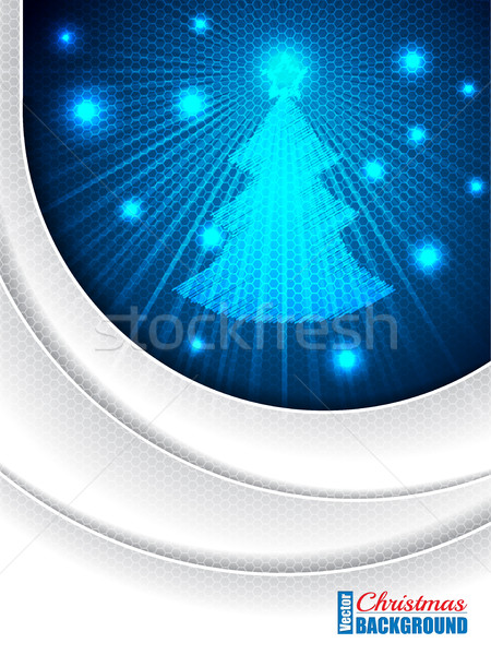 Christmas greeting with bursting christmastree Stock photo © vipervxw