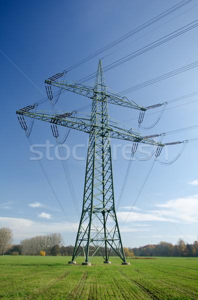 Utility pole with wires Stock photo © visdia