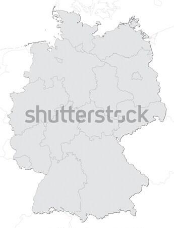 Németország térkép Stock fotó © visdia