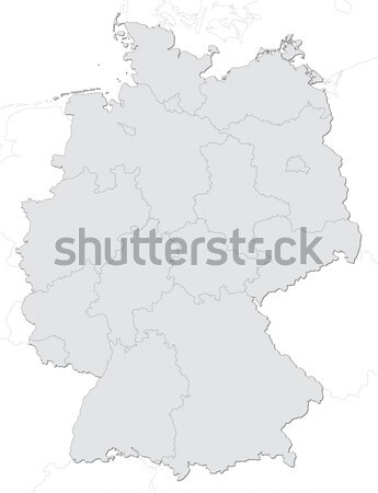 Duitsland kaart Stockfoto © visdia