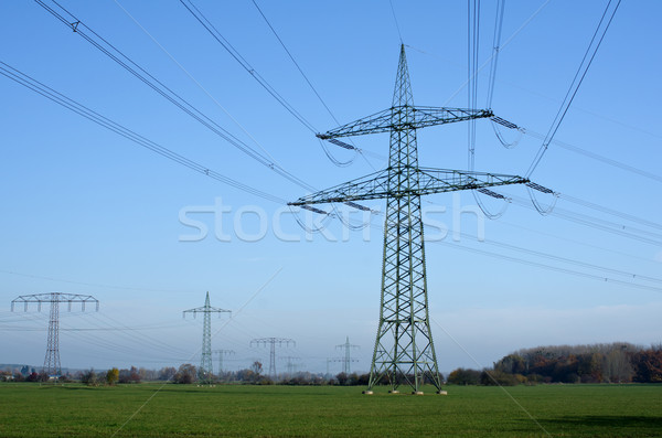 Utility pole with wires Stock photo © visdia
