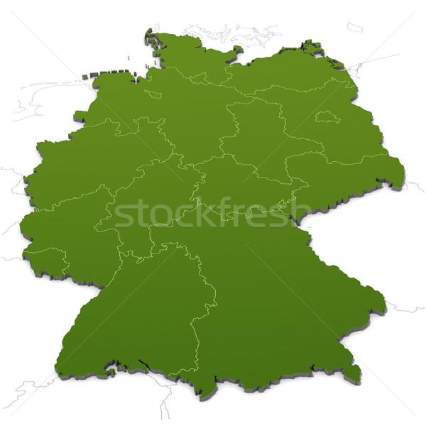 ドイツ 地図 白 ストックフォト © visdia