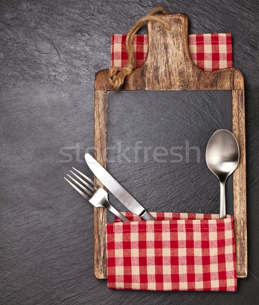 Keuken tafelkleed donkere Stockfoto © Vitalina_Rybakova