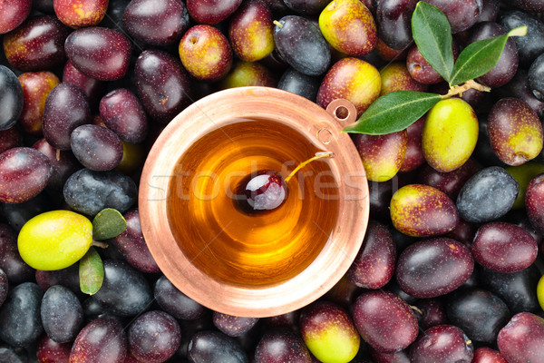Fresh olives background. Stock photo © Vitalina_Rybakova