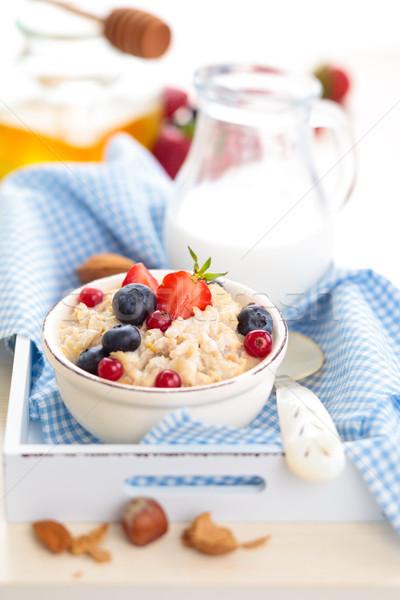 健康 朝食 オートミール 新鮮な 果物 はちみつ ストックフォト © Vitalina_Rybakova