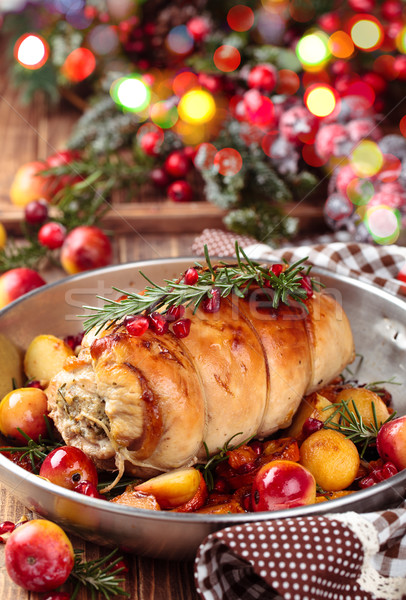 Stuffed turkey breast. Stock photo © Vitalina_Rybakova