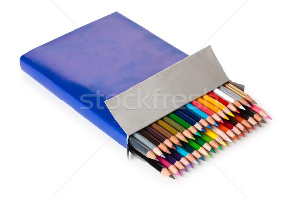 Colurful pencils in a box. Stock photo © Vitalina_Rybakova