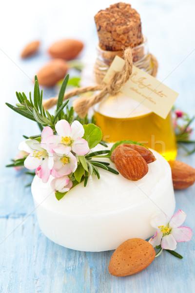 Sabun yağ otlar bar beyaz elma Stok fotoğraf © Vitalina_Rybakova