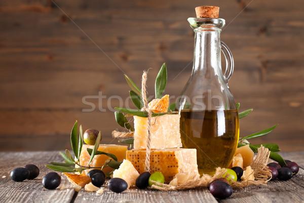 итальянская кухня Ингредиенты итальянской кухни свежие оливками оливкового масла Сток-фото © Vitalina_Rybakova