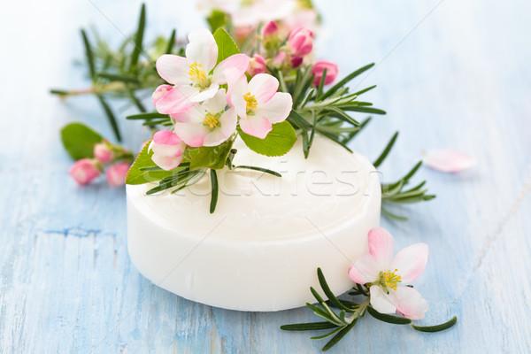Sabun otlar bar beyaz elma çiçek Stok fotoğraf © Vitalina_Rybakova