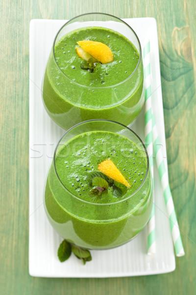 Espinafre de folhas limão tabela Foto stock © Vitalina_Rybakova