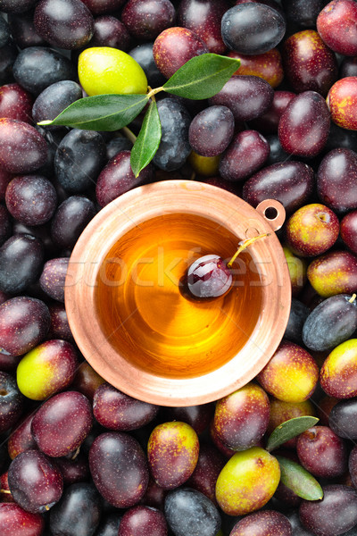 Fresh olives background. Stock photo © Vitalina_Rybakova