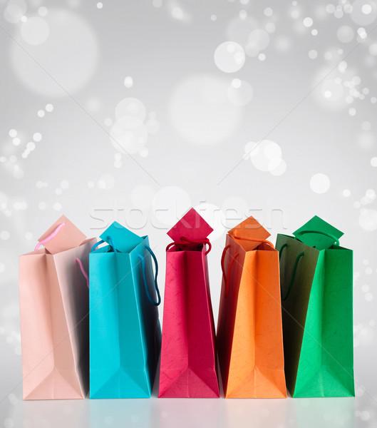Kleurrijk rij mode achtergrond winkelen Stockfoto © Vitalina_Rybakova