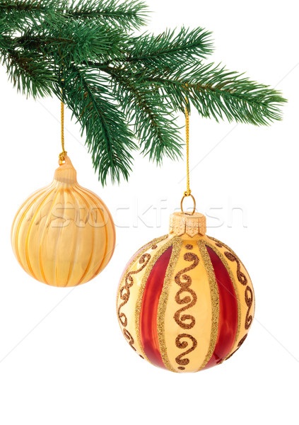 Christmas decoratie witte ingesteld goud Stockfoto © Vitalina_Rybakova