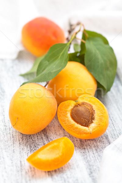 Fresh ripe apricots . Stock photo © Vitalina_Rybakova