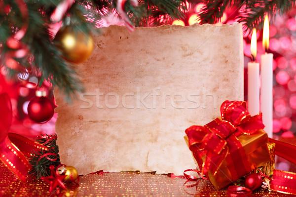 Frame for Christmas day. Stock photo © Vitalina_Rybakova