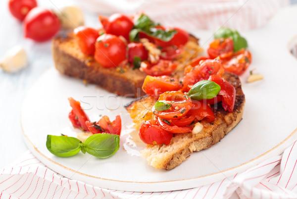 Italian food. Bruschetta. Stock photo © Vitalina_Rybakova
