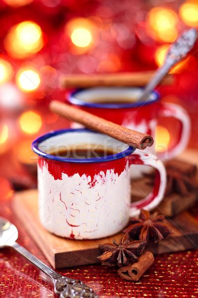 Forró csokoládé fűszer karácsony nap étel kávé Stock fotó © Vitalina_Rybakova