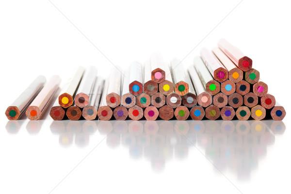Renkli kalemler yalıtılmış beyaz kalem Stok fotoğraf © Vitalina_Rybakova