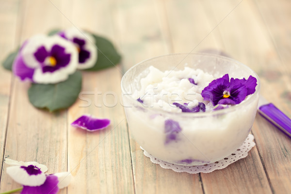 Risotto with edible flowers. Stock photo © Vitalina_Rybakova