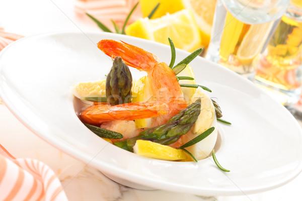 Sałatka jaj szparagów cytryny jaj Zdjęcia stock © Vitalina_Rybakova