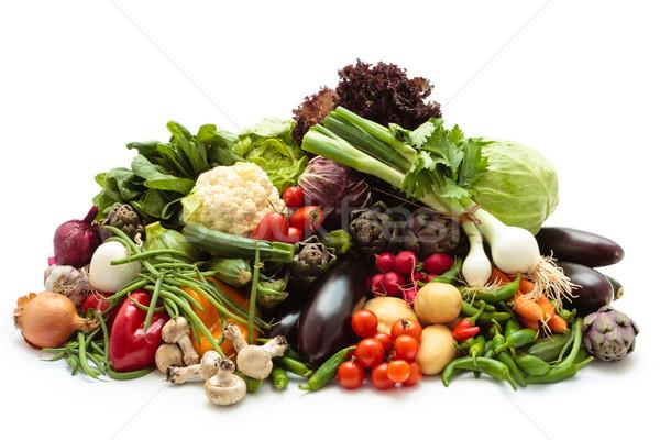 Verse groenten collectie gemengd vers organisch groenten Stockfoto © Vitalina_Rybakova
