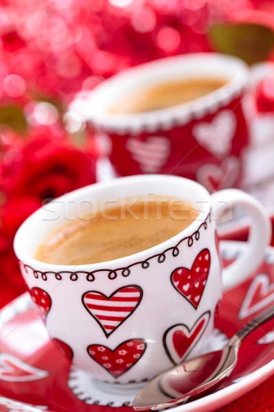 Kawy dzień róż kwiat ślub Zdjęcia stock © Vitalina_Rybakova