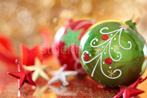 Christmas sterren geschilderd kerstboom vakantie Stockfoto © Vitalina_Rybakova