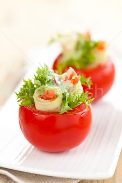 Doldurulmuş domates atış salatalık Stok fotoğraf © Vitalina_Rybakova