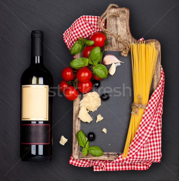 Mediterranean food. Pasta. Stock photo © Vitalina_Rybakova
