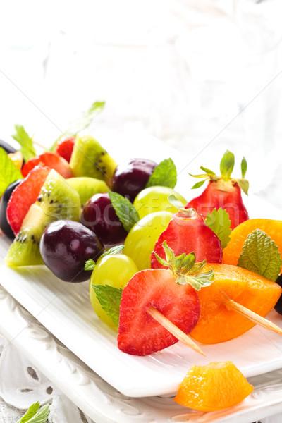 果物 新鮮な 夏 ミント 葉 春 ストックフォト © Vitalina_Rybakova