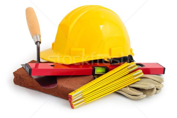 Bouw tools Geel veiligheid geïsoleerd Stockfoto © Vitalina_Rybakova