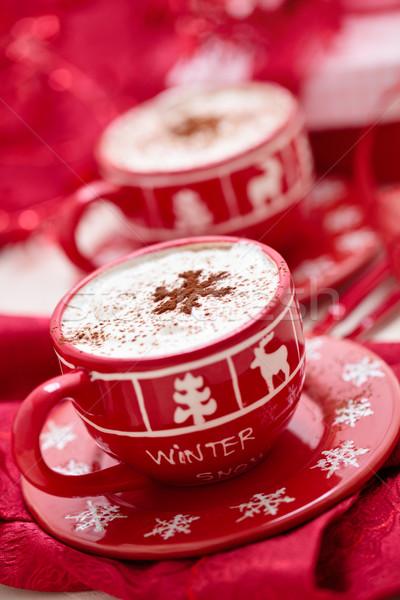 カップ ホットチョコレート クリスマス 日 装飾された 休日 ストックフォト © Vitalina_Rybakova